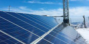 placas solares reflejando